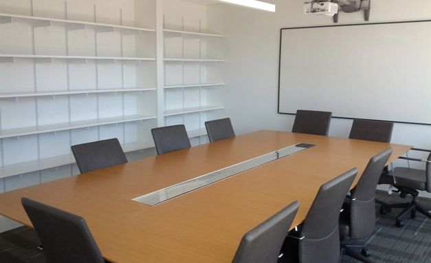 "<p><span>Custom built shelving units were added to a student library area. &nbsp;A conference table and AV work were done to allow for the space to be used for staff meetings and presentations and the space was completed by painted and adding white boards&nbsp;<a href=""http://principalbuildersllc.com/node/92"">More</a></span></p>"