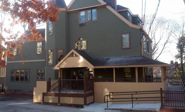 <p>Partial renovation to interior areas and full renovation to exterior to an eleven-unit senior living facility. Project included: gut renovation to six bathrooms, exterior stucco, flashings, roof work, porch, handicap ramp, masonry work and landscaping.</p>